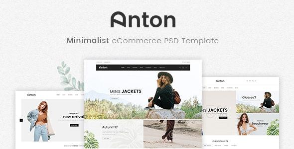 Anton - Ecommerce PSD Template - Fashion Retail