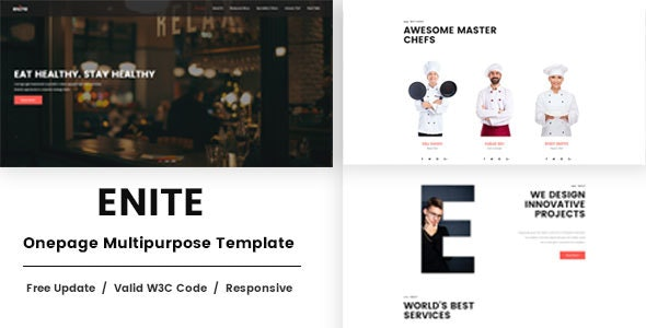 Enite - Onepage Multipurpose HTML Template - Site Templates