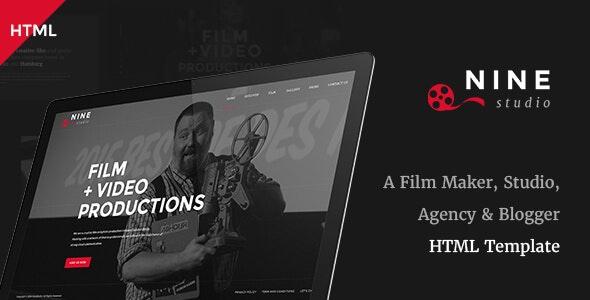 Nine Studio - A Film Maker, Studio, Agency & Blogger HTML Template - Creative Site Templates