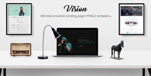 Vision - Portfolio /  Creative Agency /  Resume/ CV / Saas   Landing Page HTML5 Template. - Portfolio Creative