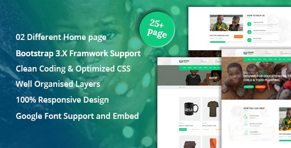 CharityHand - Charity / Nonprofit / Fundraising HTML5 Responsive Template - Nonprofit Site Templates