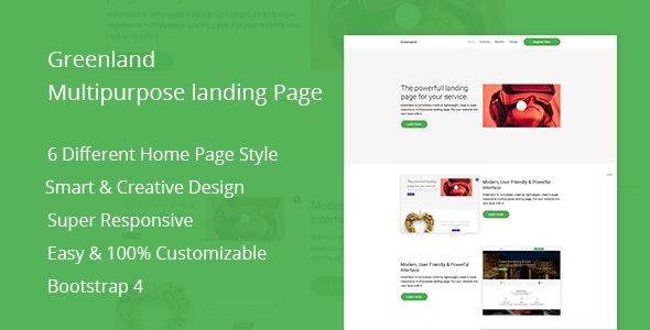 Greenland - Multipurpose Landing Page - Marketing Corporate