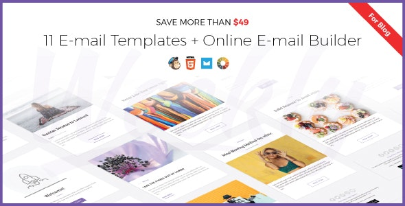 Weekly | Responsive Email Newsletter Template with Online Email Builder - Newsletters Email Templates