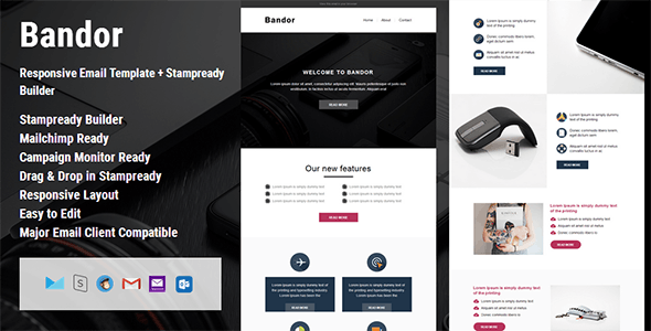 Bandor - Responsive Email Template + Stampready Builder - Email Templates Marketing