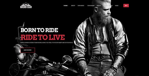 Bikersclub - Motorcycle Club WooCommerce WordPress Theme