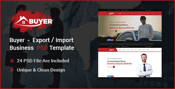 Buyer - Export/Import  Business PSD Template - Business Corporate