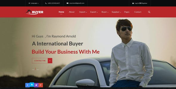 Import Export Business Website Templates from ThemeForest