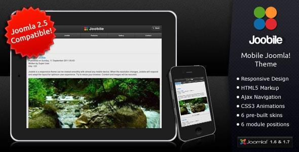 Joobile - Responsive Joomla! Mobile Theme - Miscellaneous Joomla