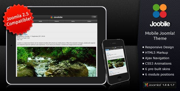 Joobile - Responsive Joomla! Mobile Theme