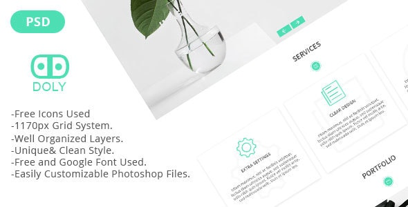 Doly - Creative One Page PSD Template - Creative Photoshop