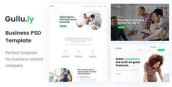 Gullu.ly - Creative Digital Agency & Multipurpose PSD Template - Business Corporate