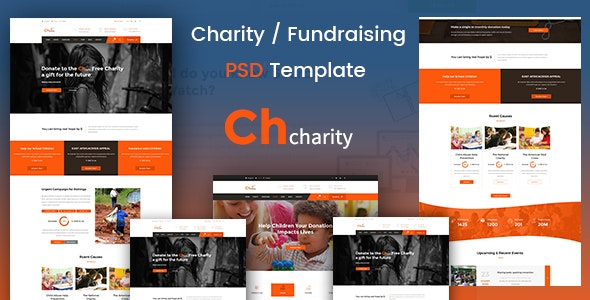 Chcharity - Charity/Fundraising PSD Template - Charity Nonprofit