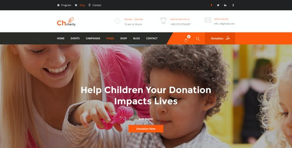 Chcharity - Charity/Fundraising PSD Template