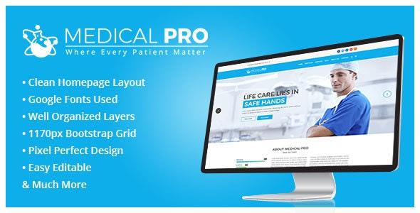 MedicalPro Psd Templates - Photoshop UI Templates