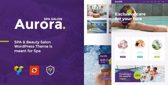 Aurora Spa & Beauty Salon WordPress Theme - Health & Beauty Retail