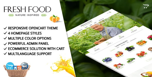 Fresh Food – Opencart Template for Organic Food/Fruit/Vegetables - Miscellaneous OpenCart