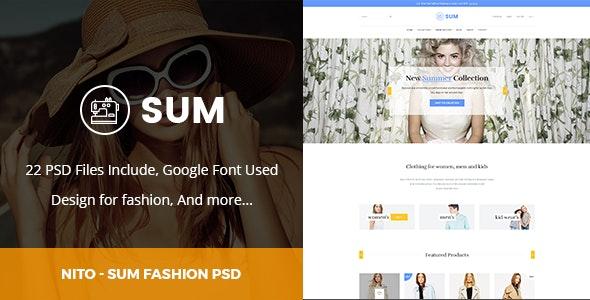 Nito Clothing Fashion - Psd Templates - Fashion Retail