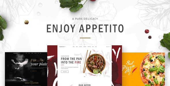 Appetito - Fast Food Restaurants & Cafés Theme
