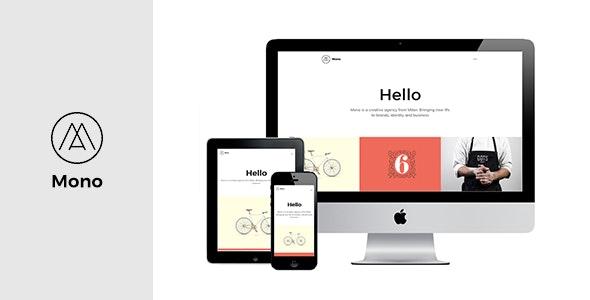 MONO - Premium Web Template for Creatives / Agency / Portfolio / Personal / Small Business Websites - Portfolio Creative