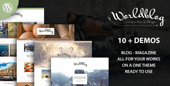 Worldblog - WordPress Blog and Magazine Theme - Personal Blog / Magazine