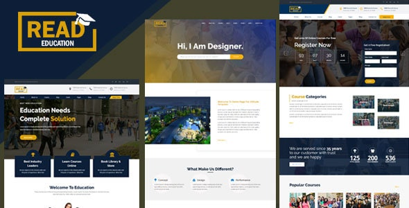 Education - Education, Academy & Training Courses - Corporate Site Templates