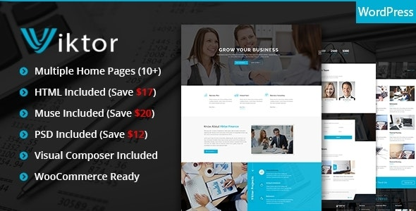 Viktor - Responsive Corporate WordPress Theme - Corporate WordPress