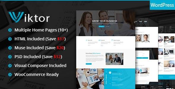 Viktor - Responsive Corporate WordPress Theme