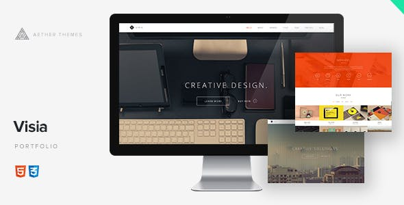 JQuery HTML Portfolio Website Templates from ThemeForest