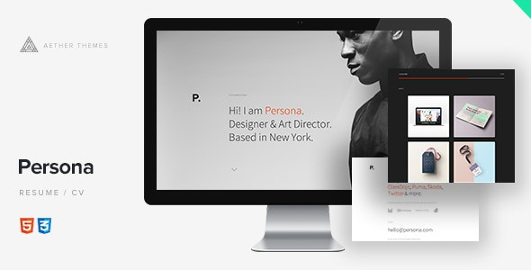 Persona - Minimal Resume/CV Template - Personal Site Templates