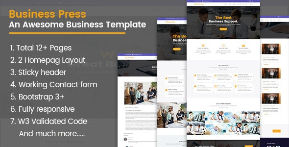 BusinessPress HTML5 Teamplate - Business Corporate