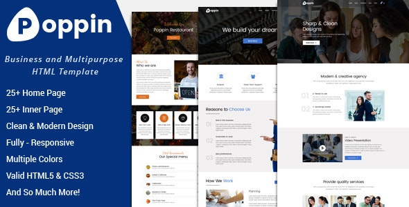 Poppin - Business and Multipurpose HTML5 Template - Business Corporate