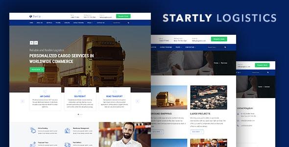 Start ly — Logistics, Cargo & Transportation Website Template by