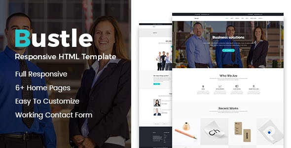 Bustle - Corporate Business Bootstrap Template