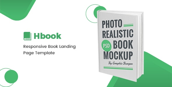 Hbook - Book Landing Page HTML Template - Marketing Corporate