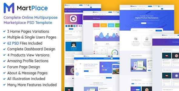 MartPlace - Complete Online Multipurpose Marketplace PSD Template - Retail Photoshop