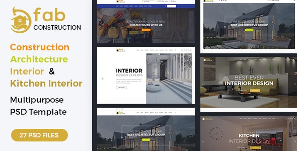 Fab Construction - PSD Template - Business Corporate