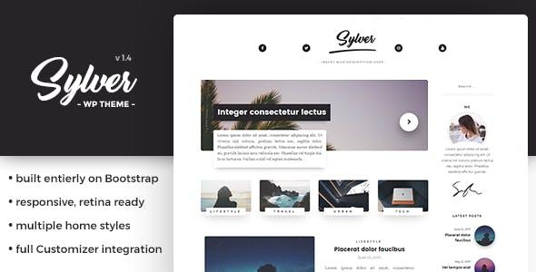 Sylver - Responsive WordPress Blog Theme