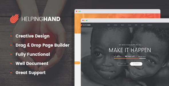 HelpingHand - Charity / Non-Profit WordPress Theme - Charity Nonprofit