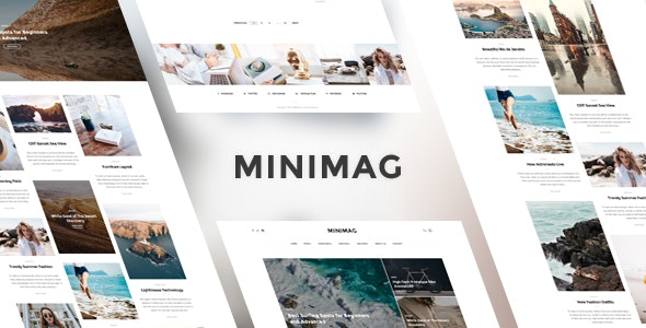 MINIMAG - Magazine & Blog PSD Template - Photoshop UI Templates
