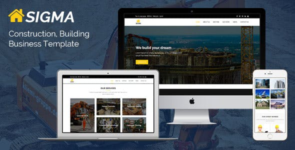 Sigma - Construction, Building Business Template