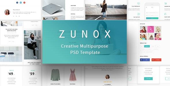 Zunox - Creative Multipurpose PSD Template - Creative Photoshop