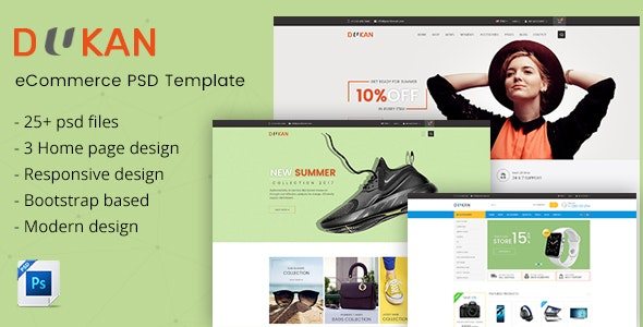 Dukan - Elegant E-Commerce PSD Template - Fashion Retail