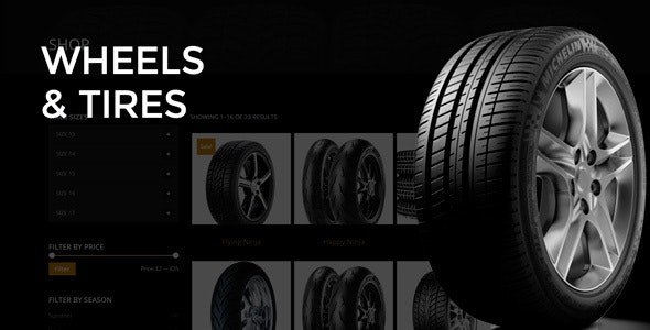 Wheels & Tires - WordPress Theme - Business Corporate