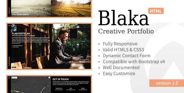 Blaka • Creative Personal Portfolio Template - Portfolio Creative