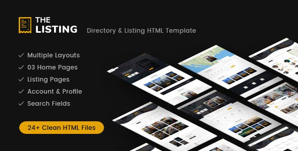 theListing - Listing Directory HTML Template with Bootstrap 4