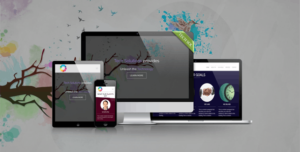 Tech Solutions - Responsive HTML5 Template - Technology Site Templates