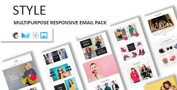 Style - Ecommerce Responsive Email Template with Stampready Builder Access - Newsletters Email Templates