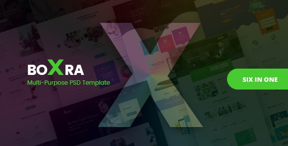Boxra - Multipurpose PSD Template - Corporate Photoshop