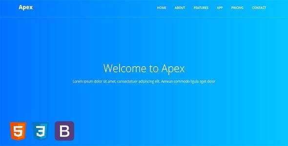 Apex - Responsive App & Software Template - Technology Site Templates