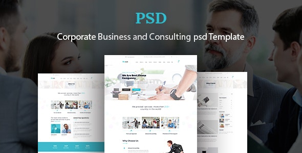 Bizcox :Corporate Business and Consulting Psd Template - Business Corporate